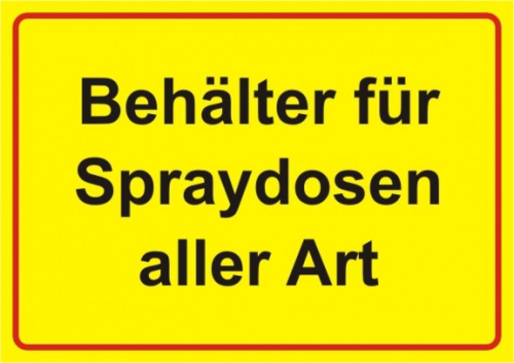Behälter für Spraydosen