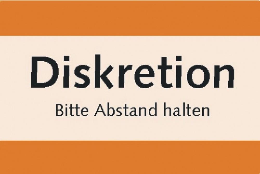 Diskretion orange