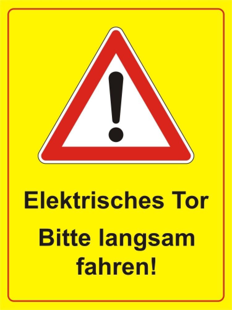 Elektrisches Tor - bitte langsam fahren