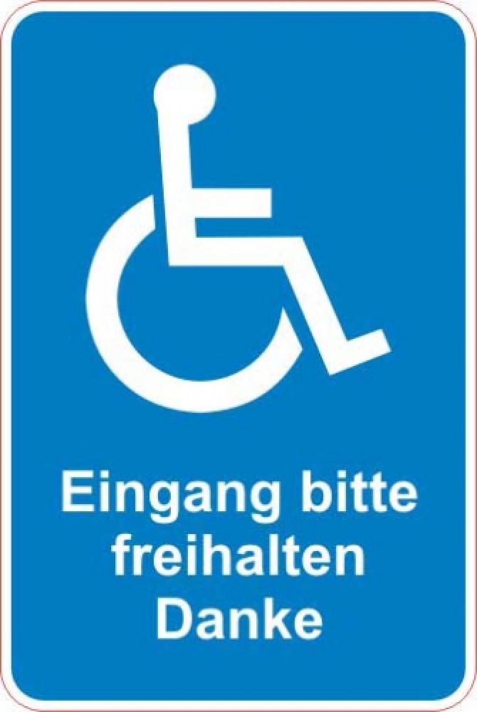 Eingang frei halten Rollstuhl blau