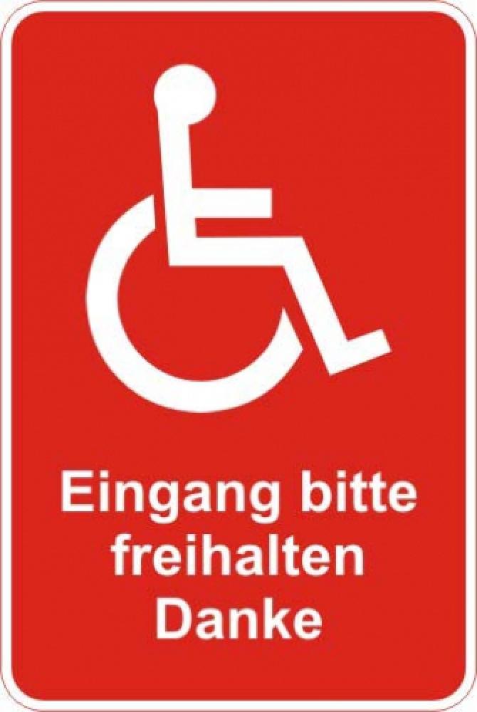 Eingang frei halten Rollstuhl rot