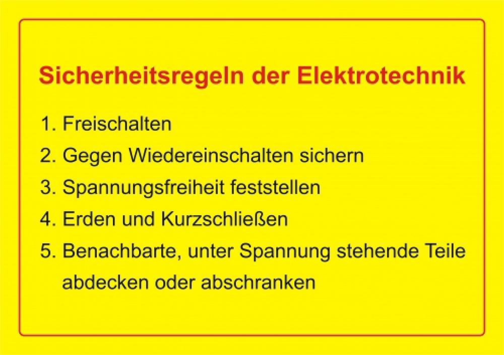 Sicherheitsregeln der Elektronik