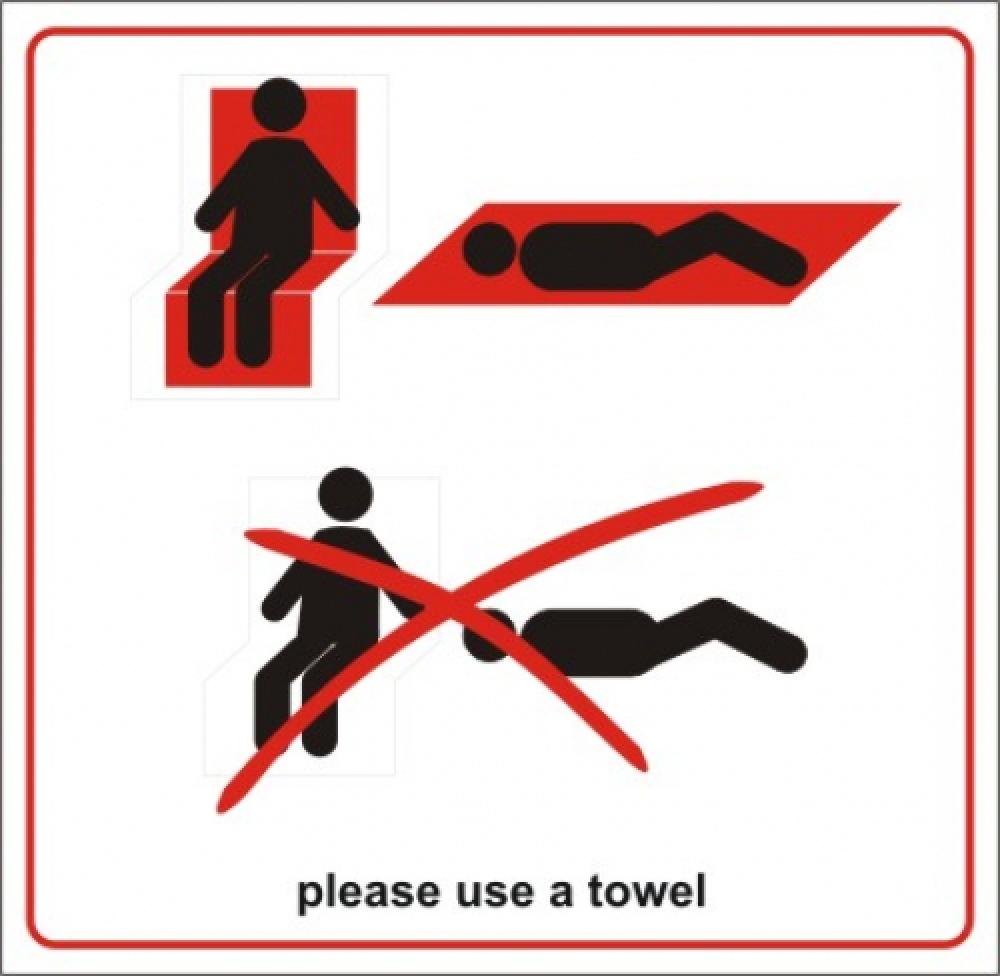 Handtuch unterlegen