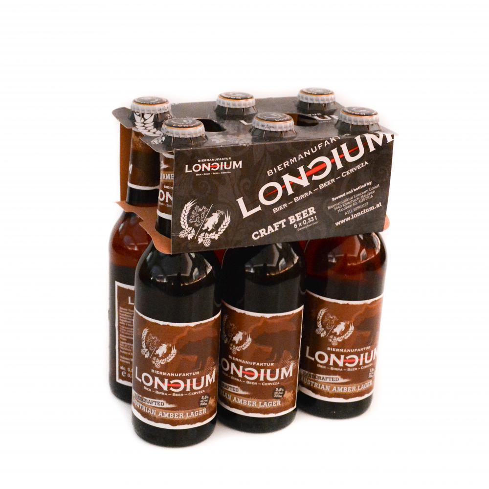 Loncium Austrian Amber Lager, 6x 0,33l