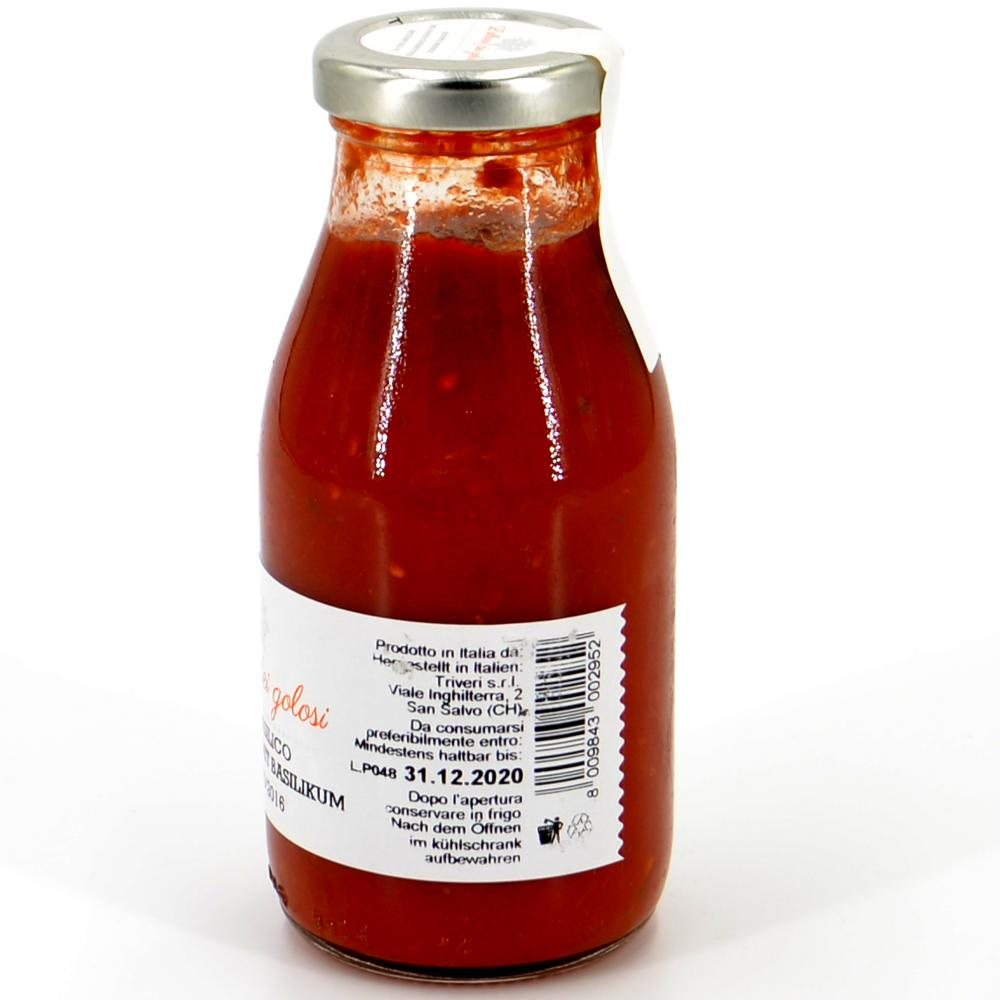 Sugo al basilico - Tomatensoße mit Basilikum