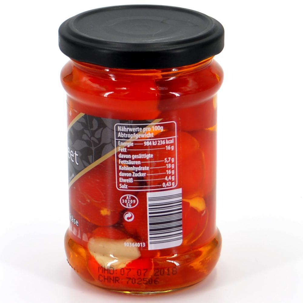 Peppersweet gefült mit Frischkäse