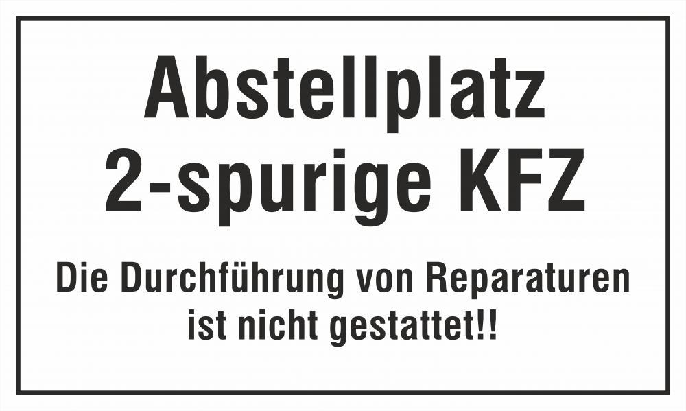 Abstellplatz 2-spurige KFZ