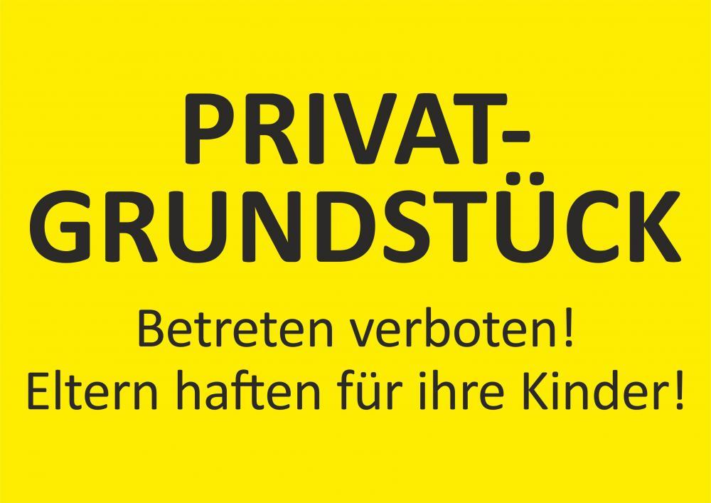 Privatgrundstück - Eltern haften!