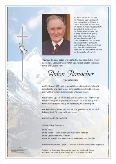 Anton Ranacher