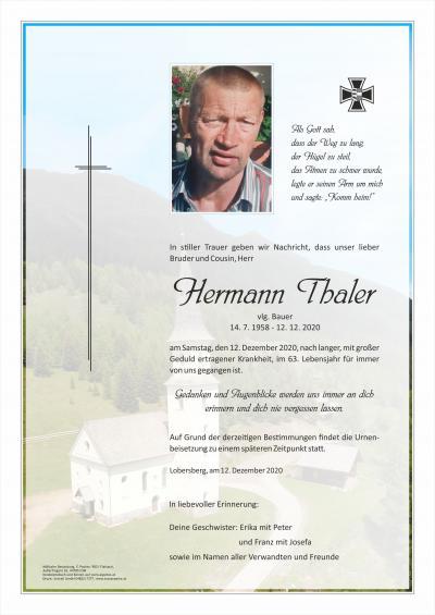 Hermann Thaler, vlg. Bauer