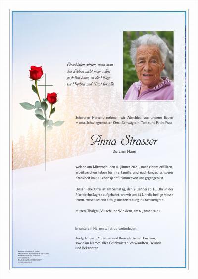Anna Strasser, vlg. Durzner