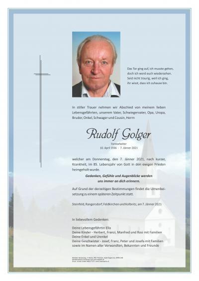 Rudolf Golger