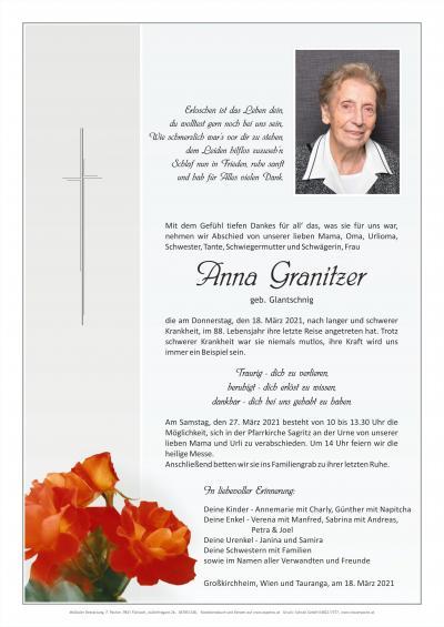 Anna Granitzer geb. Glantschnig